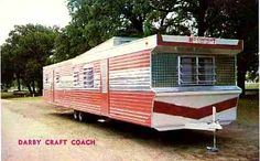 A very rare 1962 Darby Craft 10 x 50 model. This company lasted only about a year and built only a handful of mobile homes. Check out the original color scheme!