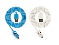 Kikkerland Design Inc » Products » Micro USB Owl + Blue Kooky Cable