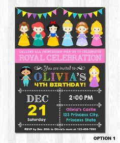 Princess Invitation Disney Princess Invitation by KidzParty