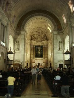 This is a picture of the interior of the Basilica of Our Lady of the Rosary at Fatima, Portugal. The Minor Basilica is dedicated to the Apparition of the Blessed Virgin whom John Paul the Great credited with keeping him alive following the attempt on his life.