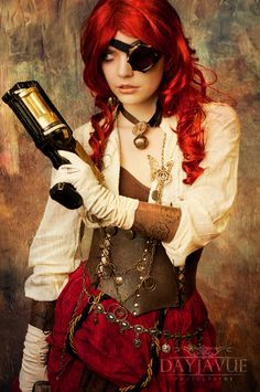 Steampunk SEXY, MORTEL, EROS, THANATOS, ROUSSE, REDHEAD, MODE, FASHION