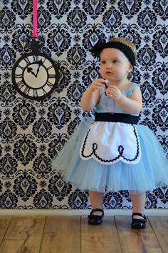 ALICE IN WONDERLAND dress retro Apron dress for girls fun for tea party handmade costume on Etsy, $55.00
