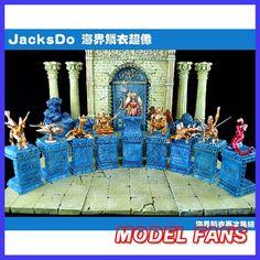 Ventiladores modelo jacksdo-saint seiya myth cloth poseidon marina generales paño de formar un total de 9