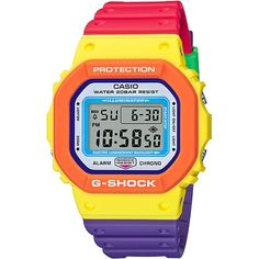 CASIO G-Shock DW-5610DN-9 Psychedelic Multi Colors Casio G-shock, Casio Watch, G Shock Mudman, Burberry Men, Gucci Men, Hermes Men, Led Auto, G Shock Limited, Psychedelic Pattern