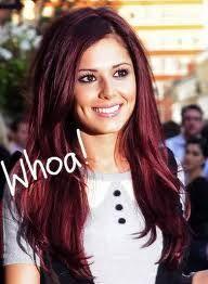 hair color - burgundy