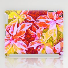 Tropical Punch iPad Case by Vikki Salmela - $60.00 #tropical #hot #Hawaiian #jungle #leaves #watercolor #art on #iPad #tablet #tech #accessory #cases for #home #travel #office by #vikkisalmela.