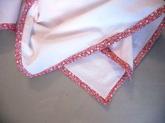 binding old towels with this tutorial.