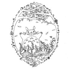 Totoro Coloring Pages | Coloring Pages For Kids | Coloring Books ...
