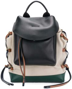a13c8ec37632 Marni lace-up panelled backpack レザーバックパック, リュックサックバックパック, バッグ