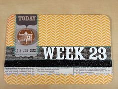 Love the ticket ting & the stitching. Samara Gugler: Project Life-Week 22