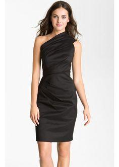 One Shoulder Ruched Taffeta Sheath Cocktail Dresses  $117.79