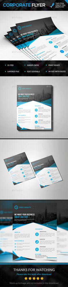 Corporate Flyer Template PSD #design Download: http://graphicriver.net/item/corporate-flyer/14298457?ref=ksioks