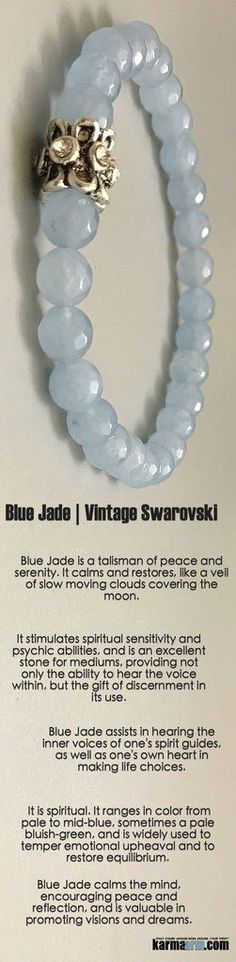 #BEADED #Yoga #BRACELETS ♛ #Blue #Jade calms the mind, encouraging #peace and reflection, and is valuable in promoting #visions and #dreams. #swarovski #Chakra #gifts #her #Stretch #Womens #jewelry #gifts #Tony #Robbins #Eckhart #Tolle #Crystals #Energy # http://kundaliniyogameditation.com/