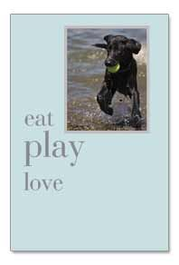 Eat Play Love Birthday Card by Cardthartic
