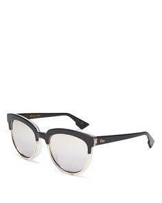 Dior Sight Mirrored Cat Eye Sunglasses, 54mm