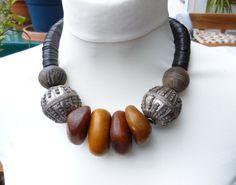 SALE  Spectacular Yemen Bedouin silver tribal ethnic necklace