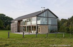 Modern Barn House in Yzel, Belgium by Artau Architecture