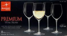 Bormioli Rocco - Premium N.6 20oz Wine Glasses (Set of 8) #BormioliRocco