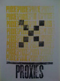 Letterpress print poster