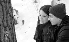 winter engagement photos High Park Toronto