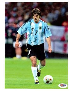 Claudio Lopez Autographed 8x10 Photo Argentina PSA/DNA #U54904