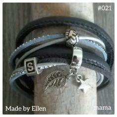 Mooie blauwe armband voor mama