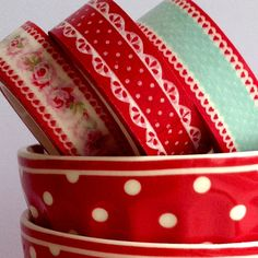 Washi tape in red and aqua