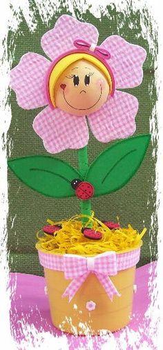 Peso de porta Flor Flor feita em e.v.a. (emborrachado)