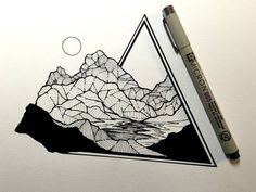 Think outside the box - or in this case, the triangle! Daily Drawings by Derek Myers – Fubiz Media