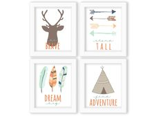 Set of Four Nursery Printables Instant Download by westemberstudio