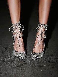 Jeffrey Campbell + Free People Hierro Heel - Suede stilettos that lace up over the ankle and zip up the back for easy on-off. Hot Heels, Crazy Shoes, Me Too Shoes, Buy Shoes, Shoe Boots, Ankle Boots, Mode Shoes, Zapatos Shoes, Shoes Sandals