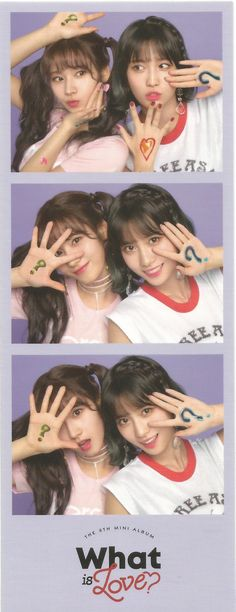 #TWICE #SANA #MOMO #WhatisLove ? B Ver. [SCAN] : Lucky Me got these sticker.. Twin Sister
