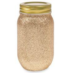 Barattolo in vetro a paillette dorate COPPER