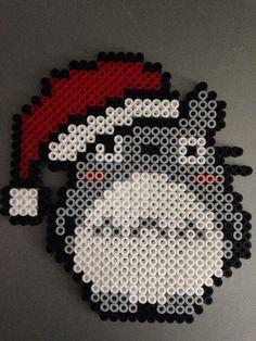 Christmas Totoro (Perles Hama/ Perler Beads)
