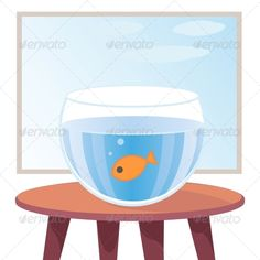 Goldfish in Aquarium on Table  #GraphicRiver         Vector illustration of goldfish in aquarium on table against window. EPS 10     Created: 30October13 GraphicsFilesIncluded: JPGImage #VectorEPS Layered: Yes MinimumAdobeCSVersion: CS5 Tags: abstract #aquarium #art #background #bowl #cartoon #cozy #cute #fish #fishbowl #fishes #fun #funny #furniture #glass #gold #goldfish #humor #one #pet #room #sky #swimming #table #tropical #vintage #wallpaper #water #window #wood