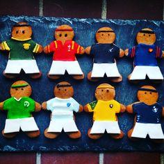 #RWC2015 Gingerbread rugby men - Quarter finals biscuits