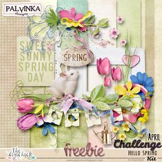 FREEBIE & Challenge: Hello Spring Kit by Palvinka Designs | Digital Scrapbook