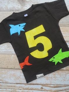 Shark Shirt - would work with initials too
