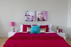 Kid rooms // They grow so fast! Capture their ever-changing smile and print the photos on canvas. // www.canvaspop.com