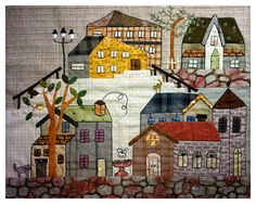 Image result for Quilts with houses