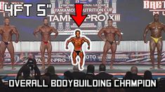 4ft 5in tall Bodybuilder Wins Bodybuilding Contest - Shortest Overall Champion Ever - YouTube Bodybuilding Competition, Bodybuilder, Overalls, Champion, Motivation, Health, Bodies, Youtube, Health Care
