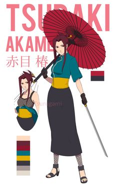 UPDATE : new revamped picture & profile yay ^q^ Tsubaki as she appears in Naruto Shippuden. 赤目椿 Akame means red eye, and Tsubaki is Camellia in japanese. Bio Ag...