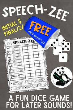 Need a new, engaging way to target later articulation sounds for those hard to motivate students? Give this a try! I have some older students who love to play dice games in speech. The problem ---> most popular dice games take too long and adding up all of the dice is tedious! I created SPEECH-ZEE to solve this problem!