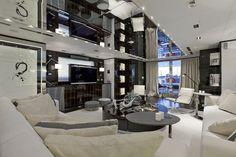 super mega yachts inside - Google Search Yacht Interior, Interior Design, Luxury Furniture, Furniture Design, Luxury Yachts, Models, Lighting Design, Luxury Homes, Home Goods