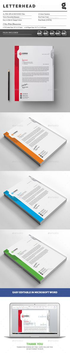 Letterhead template psd vector eps ai illustrator letterhead letterhead template psd vector eps ai illustrator letterhead design templates pinterest letterhead template ai illustrator and template spiritdancerdesigns Choice Image