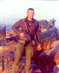 "1st Recon Marine with an M-3 ""grease gun"" ~ Vietnam War"