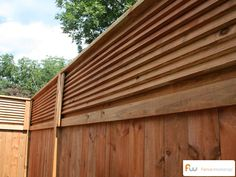 The Stanton™ Louvered Top Wood Privacy Fence | Pictures & Per Foot Pricing