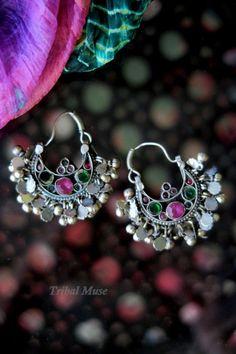 KUCHI CRESCENT EARRINGS - Vintage Tribal Jewelry