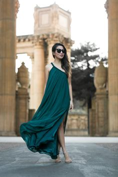 San Francisco :: Emerald maxi dress