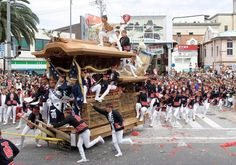 Danjiri festival is one of the most exiting festival in Japan. There are some regions that have this festival, but the biggest one is in Kishiwada, Osaka. First Saturday and Sunday in October are likely to be the time to head to Kishiwada!